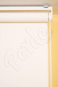 Beyaz Keten Desenli Stor Perde