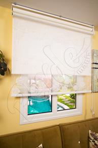 Çiftli Sistem Beyaz Lilyum Tül ve Beyaz Mat Polyester Stor Perde