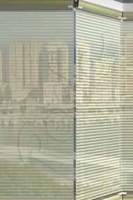 Çizgili Tül Ekru Cam Balkon Perdesi