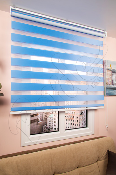 Fırsat Perdesi - 120 x 200 cm Gökyüzü Mavisi Eko Zebra Perde