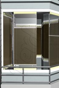 Kahverengi Eko Seri Cam Balkon Perdesi