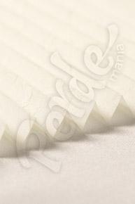 Kırışık Desenli Ekru Cam Balkon Perdesi