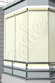 Kırışık Desenli Koyu Krem Cam Balkon Perdesi