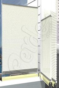 Kırışık Desenli Krem Cam Balkon Perdesi