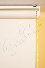 Kirli Beyaz Keten Desenli Stor Perde