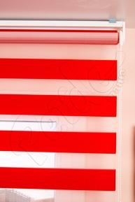 Kırmızı Eko Zebra Perde