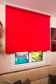 Kırmızı Polyester Stor Perde