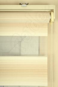 Krem - Ekru Renk Geçişli Pliseli Zebra Perde