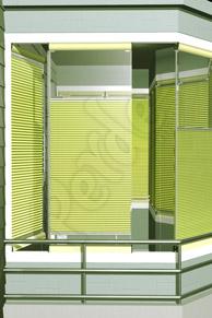 Limon Sarısı Eko Seri Cam Balkon Perdesi