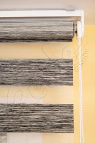 Siyah Bambu Zebra Perde