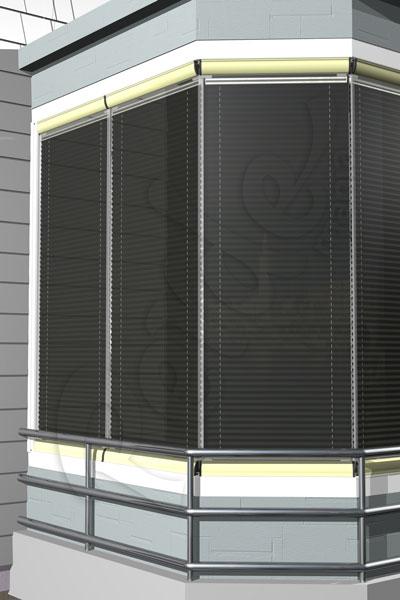 Siyah Eko Seri Cam Balkon Perdesi