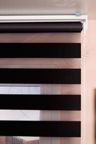 Siyah Eko Zebra Perde